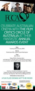 Film Critics Circle of Australia news