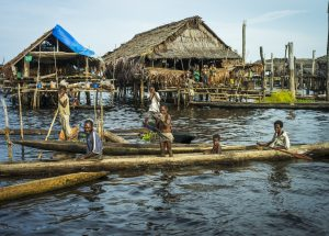 Stilt village pm Lake Kambaramba - Image supplied courtesy of North Star Cruises Australia.
